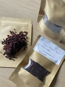 100% ORGANIC Premium Dried Hibiscus Flowers Pre Cut and Shift- From Egypt