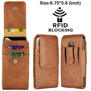 For Samsung Galaxy S21/S21+/S20 FE/Ultra Holster Clip Card Holder Leather Pouch