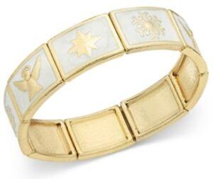 Charter Club Gold Tone Angle Snowflake Star Women's Bracelet 67277B0G