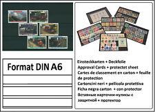 1000 Look Din A6 Tarjeta Tarjetas Tarjetas-Pinza 3 Rayas + Deckfolie