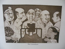 """Art print Charles Bragg artist black Lithograph """"the consultant"""" Duotone Signed"""