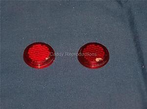 1948 - 1956 Cadillac Tail Light Reflector Dots - Pair