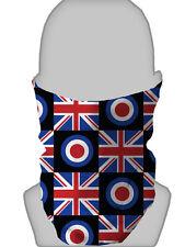 Snood Face Mask Mod Target Union Jack Face Design Neckwarmer Tube Scarf Bandana
