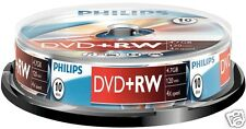 Philips DVD+RW 4.7, 4x Speed, Spindel 10 Stück