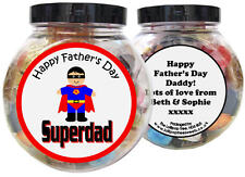 SUPER DAD PERSONALISED FATHER'S DAY PRESENT - GIFT JAR OF SWEETS