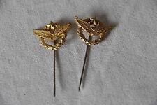 Broches dorées à l'or fin armée de l'air militaire