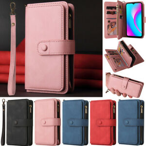 For Sony Xperia 10 III 1 III 5 III Zipper Wallet ID Card Leather Flip Cover Case