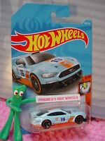 Gulf CUSTOM '18 FORD MUSTANG GT #180✰blue✰MUSCLE MANIA✰2019 i Hot Wheels CASE J