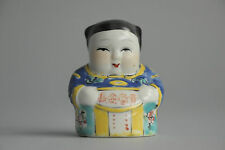 Perfect Chinese Porcelain Statue Figure Calligraphy Signed China Old