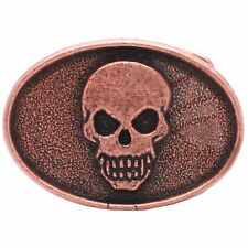 "Skull Head Trophy Belt Buckle Antique Copper 6003-10 USA 3"" x 2"""