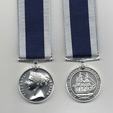 ROYAL NAVY LONG SERVICE  MEDAL . VR ISSUE. A SUPERB DIE-STRUCK FULL-SIZE REPLICA