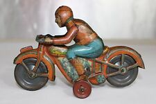 Antique 1930s RICO SPAIN WIND UP TIN LITHO TOY MOTORCYLE No Arnold Bing Tippco