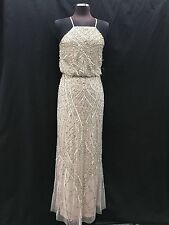 ADRIANNA PAPELL GOWN/MOTHER OF BRIDE DRESS/SIZE 14/RETAIL$340/SHELL/NEW W TAG