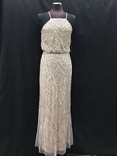 ADRIANNA PAPELL GOWN/MOTHER OF BRIDE DRESS/SIZE 12/RETAIL$340/SHELL/NEW W TAG