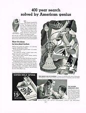 1936 BIG Vintage Spud Cigarettes Persian Shah Hookah Pipe Smoking Art Print Ad