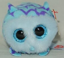 "New! 2016 Ty Teeny Tys Mimi the Blue Owl 3"" Stackable!"