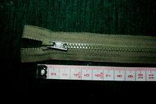 YKK Vislon Zip Green  - 45cm - Open Ended