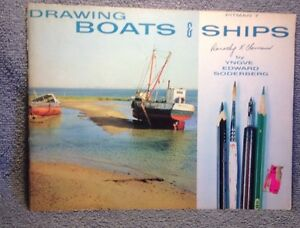 VINTAGE 1959 PITMAN 7 DRAWING BOATS & SHIPS/ PRE OWNED