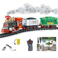 Remote Control Conveyance Car Electric Steam Smoke RC Train Set Model Kids Toys