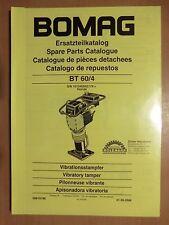 Ersatzteilliste BOMAG Vibrationsstampfer BT 60/4 Honda Motor Vibratory tamper