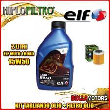 KIT TAGLIANDO 2LT OLIO ELF MOTO 4 ROAD 15W50 KTM 690 Enduro R 1st Oil Filter 690