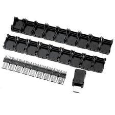 10 Micro USB 5 Pin T Port Male Plug Socket Connectors & Plastic Covers,New