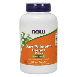 NOW FOODS Saw Palmetto Berries 550mg 250 Capsules - bacche di Serenoa repens