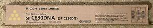 Genuine Ricoh 821182 821118  SP C830DNA Toner Cartridge Yellow SP C830DN C831DN