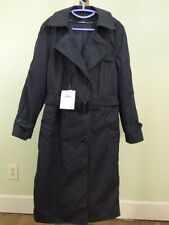 NEW US Military DSCP Garrison Collection Black PolyCotton Trench Womens Size 14L