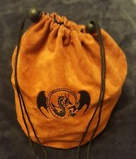D&D Dragon Embroidered Dice Bag Large Board Game Token Gamer Counter Coin Bag