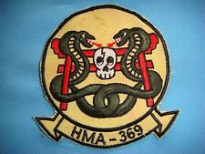 VIETNAM WAR PATCH, USMC MARINE ATTACK HELICOPTER SQUADRON  HMA--369