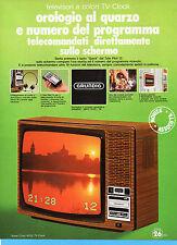(AM) EPOCA975-PUBBLICITA'/ADVERTISING-1975-GRUNDIG -SUPER COLOR 6025 TV CLOCK
