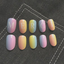 Hot Sale NEW High Quality Colorful Merci 3D Short False Fake Nails Tip Stickers