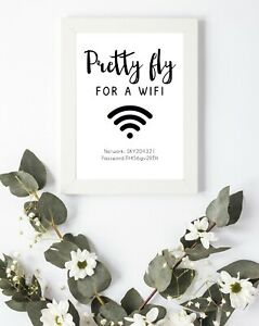 Internet Wifi Quote Be our Guest Bedroom Living Room Wall Decor Art A4 A5 A6