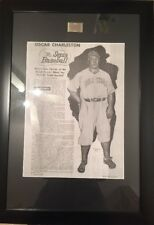 "OSCAR CHARLESTON, Negro League Artwork Compendium 40 1/4"" X 28"" Framed & Matted"