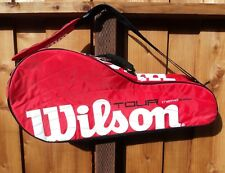 Wilson Thermo Guard Tour Red Tennis Bag Multi Compartment Gently Used