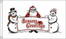 'Seasons Saludos' Snowman Bandera 12.7cmx7.6cm Navidad Celebración Decoración De