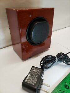 Orbita Automatic Programmable Single Watch Winder Glossy Oak Cabinet Digi Manual