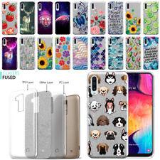 "For Samsung Galaxy A50 6.4"" 2019 Slim Sparkling Silver TPU Silicone Case Cover"