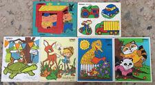 Lot Of 6 Vintage Playskool Disney Wooden 180-04 290-01 310-8 315-20 33-10 360-22