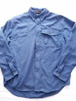 Columbia River Lodge men's button down long sleeve shirt size medium blue R24