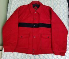 Vintage 80s 90s Men's Sergio Valente Wool Jacket Coat Striped Red Blue XXL 2XL