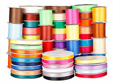 SATIN RIBBON DOUBLE SIDED ALL COLOURS GIFT PARCEL CAKE WEDDING 12MM 24MM 50MM