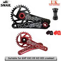 SNAIL MTB Bike Crankset + BB 30T 32T 34T Chainrinig For Sram GXP XX1 X9 XO X01