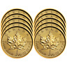 Lot of 10 - 2019 $5 Gold Canadian Maple Leaf .9999 1/10 oz Brilliant Uncirculate