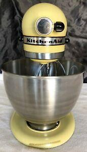 Vintage KitchenAid K45 Yellow/Green Tilt Mixer 10 Speed w/ Attachments