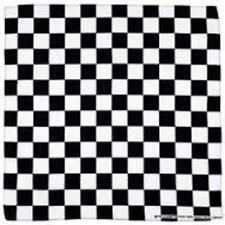 checkeredboard black and white BANDANA  BANDANNA  COTTON
