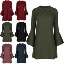Viscose Dresses for Women with Bell Sleeve