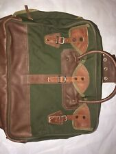 ORVIS Battenkill Canvas & Leather Garment Suitcase Travel Luggage Bag