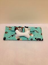 BLUE DOGS DOUBLE BEDDING SET FOR BARBIE, MONSTER HIGH, OR BRATZ DOLLS